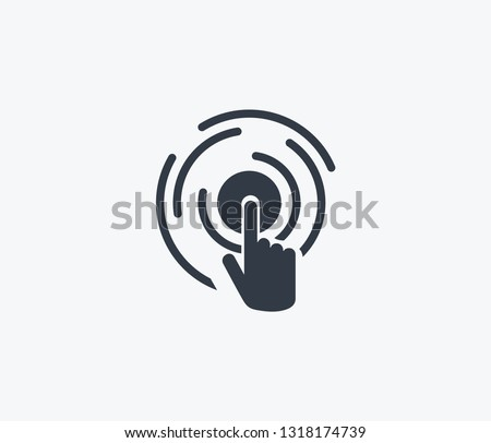Virtual interactive control icon isolated on clean background. Virtual interactive control icon concept drawing icon in modern style. Vector illustration for your web mobile logo app UI design. Stock photo ©