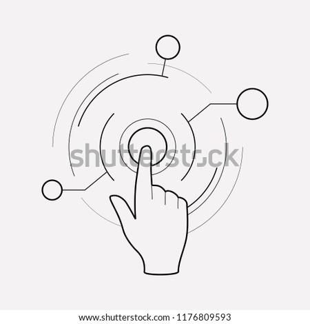 Virtual interactive control icon line element. Vector illustration of virtual interactive control icon line isolated on clean background for your web mobile app logo design.