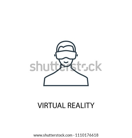 Virtual Reality concept line icon. Simple element illustration. Virtual Reality concept outline symbol design from Augmented reality set. Can be used for web and mobile UI/UX