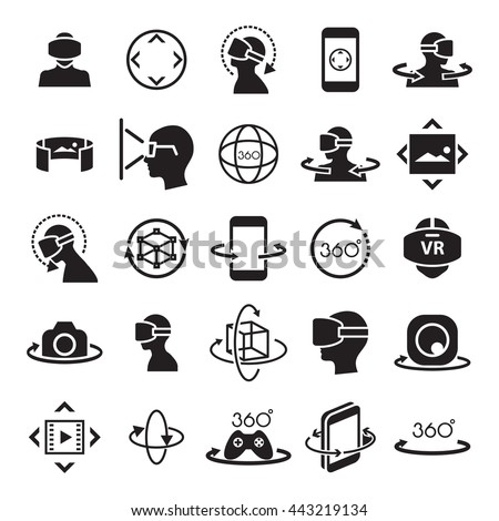 Stock Photo virtual reality ,icon and symbol