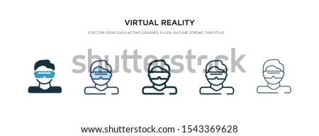virtual reality icon in