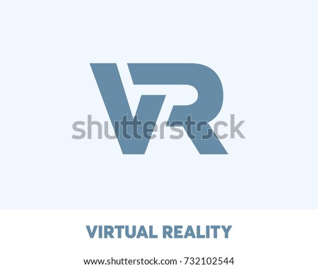 Virtual Reality logo, web icon, modern entertainment, vector illustration
