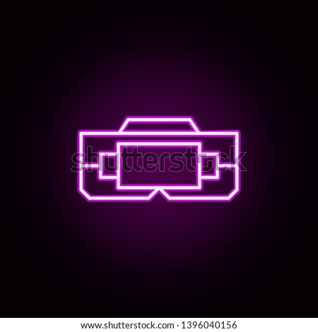 virtual reality neon icon. Elements of internet things set. Simple icon for websites, web design, mobile app, info graphics