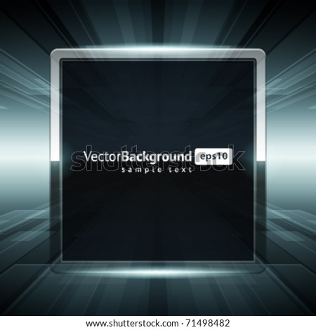 Virtual space with screen vector background. Eps 10.