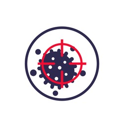 Virus and target vector icon