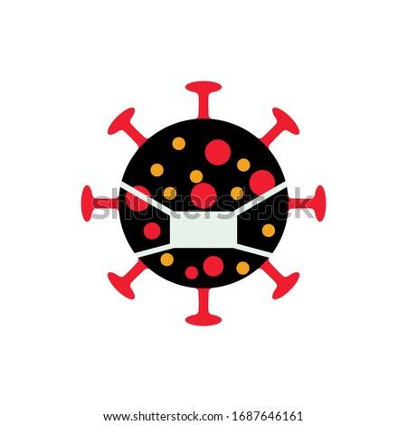 virus corona logo clean and neat.