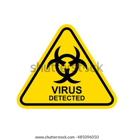 virus detected sign vector
