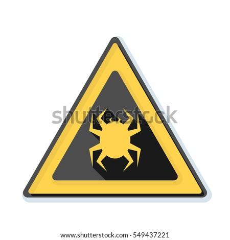 virus hazard sign