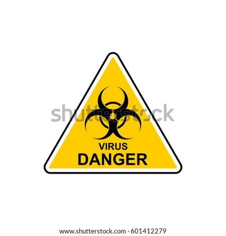 virus icon vector biohazard