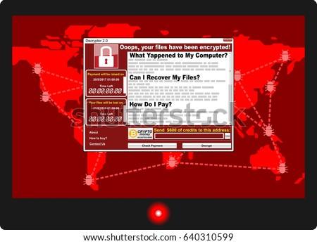 virus ransomware malware threat