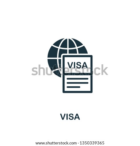 Visa icon. Creative element design from tourism icons collection. Pixel perfect Visa icon for web design, apps, software, print usage.