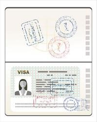 Visa Stamp Passport