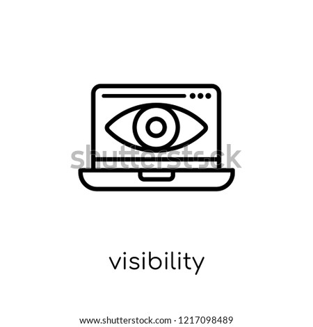 Visibility icon. Trendy modern flat linear vector Visibility icon on white background from thin line Programming collection, editable outline stroke vector illustration Foto stock ©