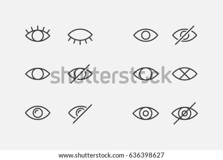visible invisible icon symbol