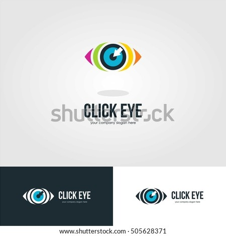 VISION EYE LOGO ICON TEMPLATE