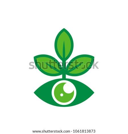 vision nature logo icon design