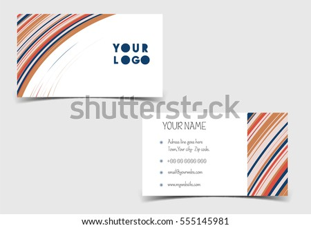 visiting card abstract vector illustration