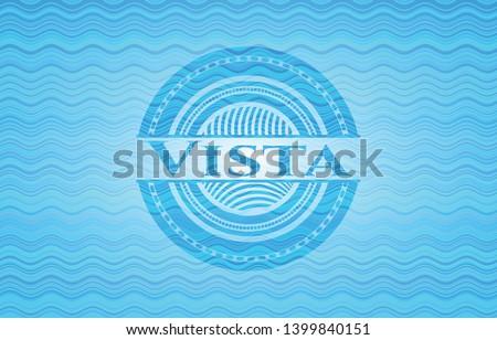 Vista water concept emblem. Vector Illustration. Detailed.