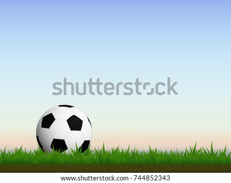 visual drawing of football