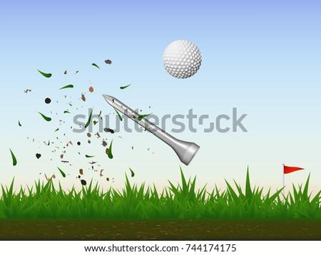 visual drawing of golf ball