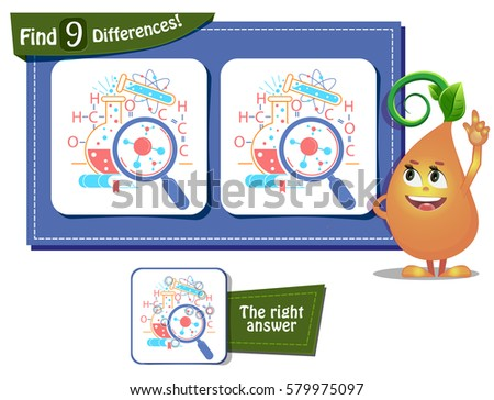 visual game for children and