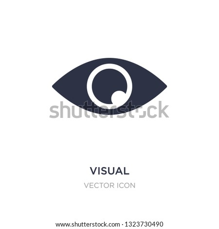 visual icon on white background. Simple element illustration from UI concept. visual sign icon symbol design.