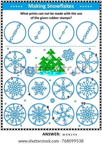 visual logic puzzle  what