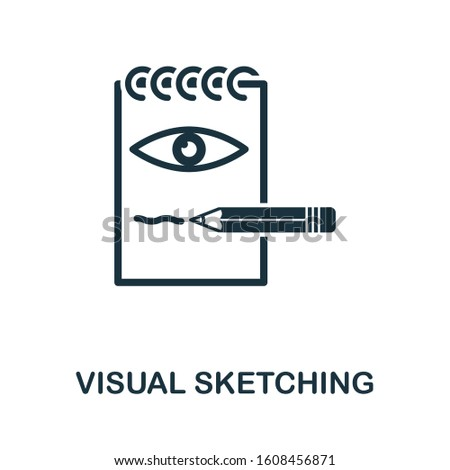 Visual Sketching icon. Simple element from design technology collection. Filled Visual Sketching icon for templates, infographics and more.
