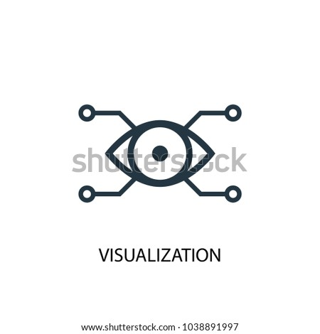 Visualization icon. Simple element illustration. Visualization concept symbol design from Augmented reality collection. Can be used for web and mobile.