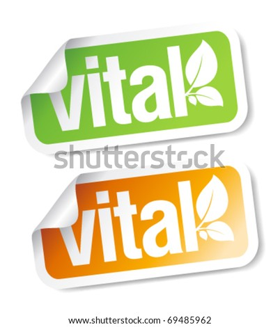 Vital stickers set.
