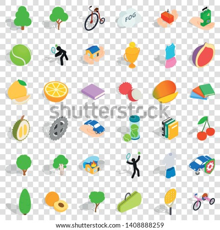 Vitality icons set. Isometric style of 36 vitality vector icons for web for any design