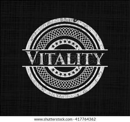 Vitality written on a chalkboard