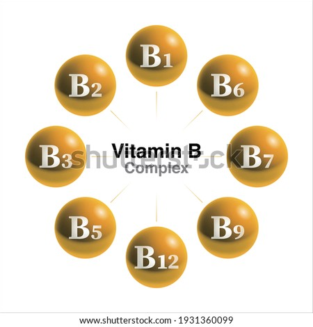 Vitamin B complex drops isolated on white background Сток-фото ©