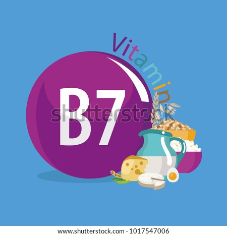 Vitamin B7 (vitamin H, biotin). Food sources. Natural organic products with a maximum content of vitamin 7.