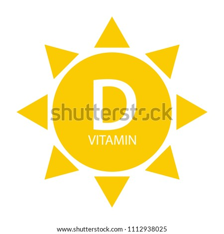 Vitamin D Sun Sign Icon. Vector Illustration EPS10