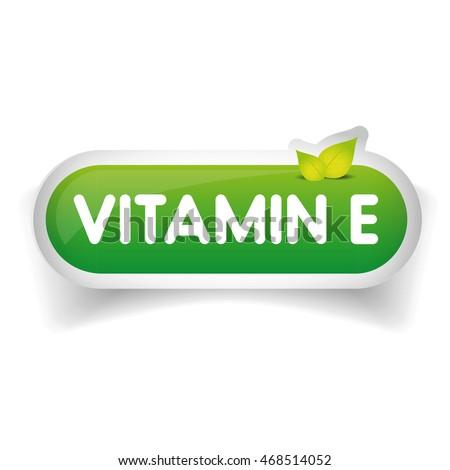 Vitamin E label vector