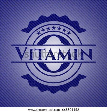 vitamin emblem with jean high