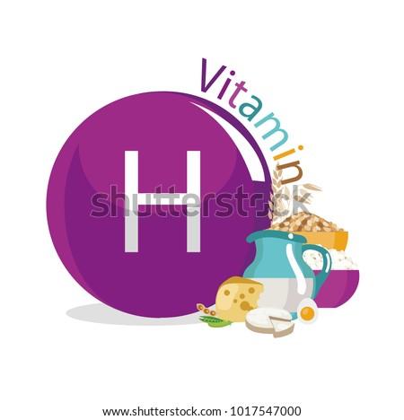 Vitamin H (vitamin B7, biotin). Food sources. Natural organic products with the maximum content of vitamin H.