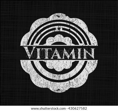Vitamin on blackboard