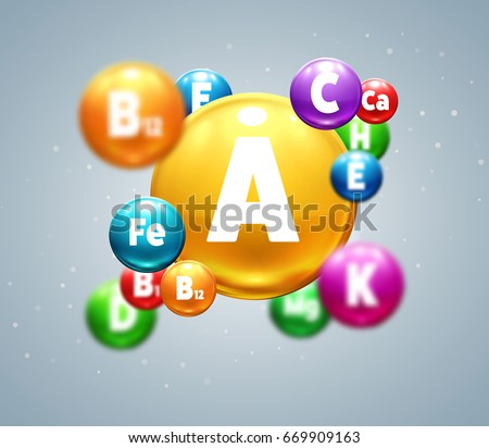 vitamins colorfull balls