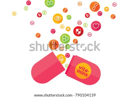 Vitamins set illustration