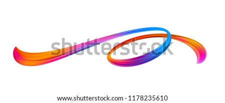 stock-vector-vivid-acrylic-brushstroke-abstract-oil-paint-stream-twisted-paint-smear-christmas-and-new-year