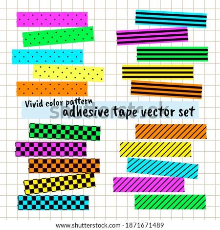 Vivid color pattern adhesive tape Washi Tape Paper sticky tape Masking Tape Photo stock ©