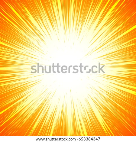 Vivid colorful background with starburst (sunburst)-like motif. Abstract radial lines fading into background. Easy to change colors (only 2 color)