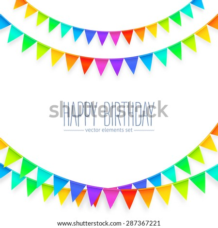 vivid colors rainbow flags