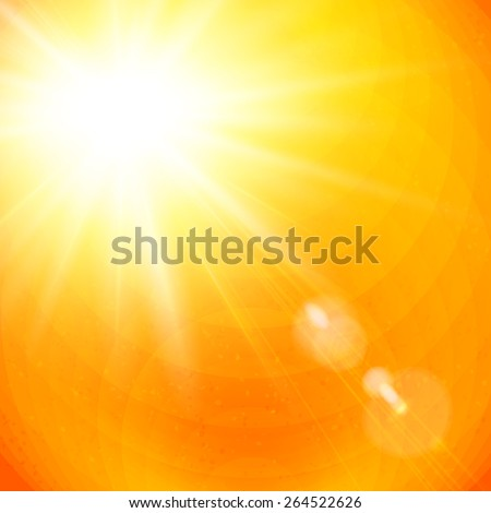 vivid orange sunburst with sun