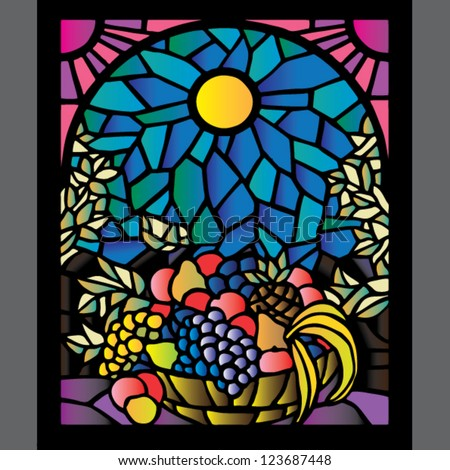 vivid stained glass window