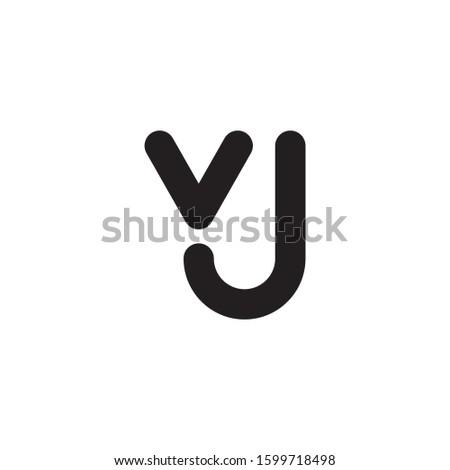 VJ initial letter logo template vector icon design Stock fotó ©