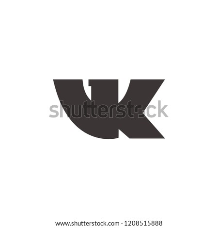 VKontakte logo icon,vk sign isolated on white background, social media symbol