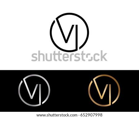 Buntes Abstraktes Logo Mit Buchstaben V Kostenlose Vektor Kunst